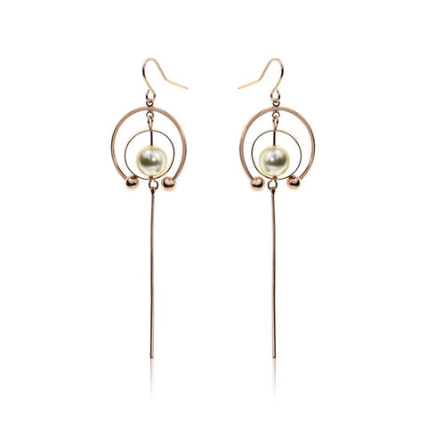 Circle Baroque Pearl Earings | Purity Lace Designs