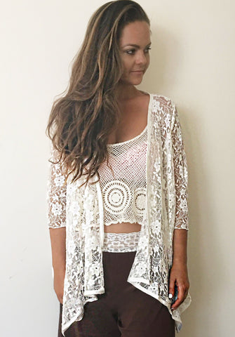 White lace Jacket bridal mother of the bride