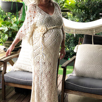 Maternity Teena crochet dress