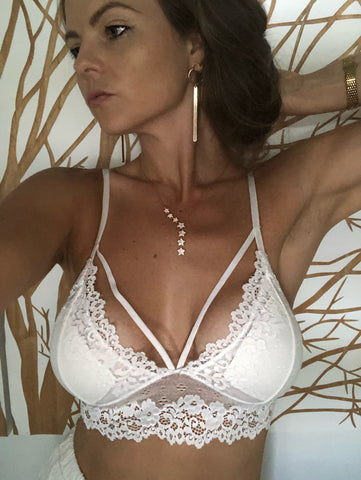 Adriana White Lace Bra - Purity Lace Designs