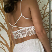 Giselle White Lace Bra