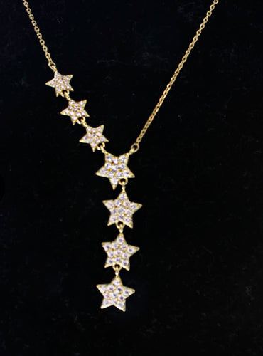 Dainty Star Necklace 14k Gold Plated