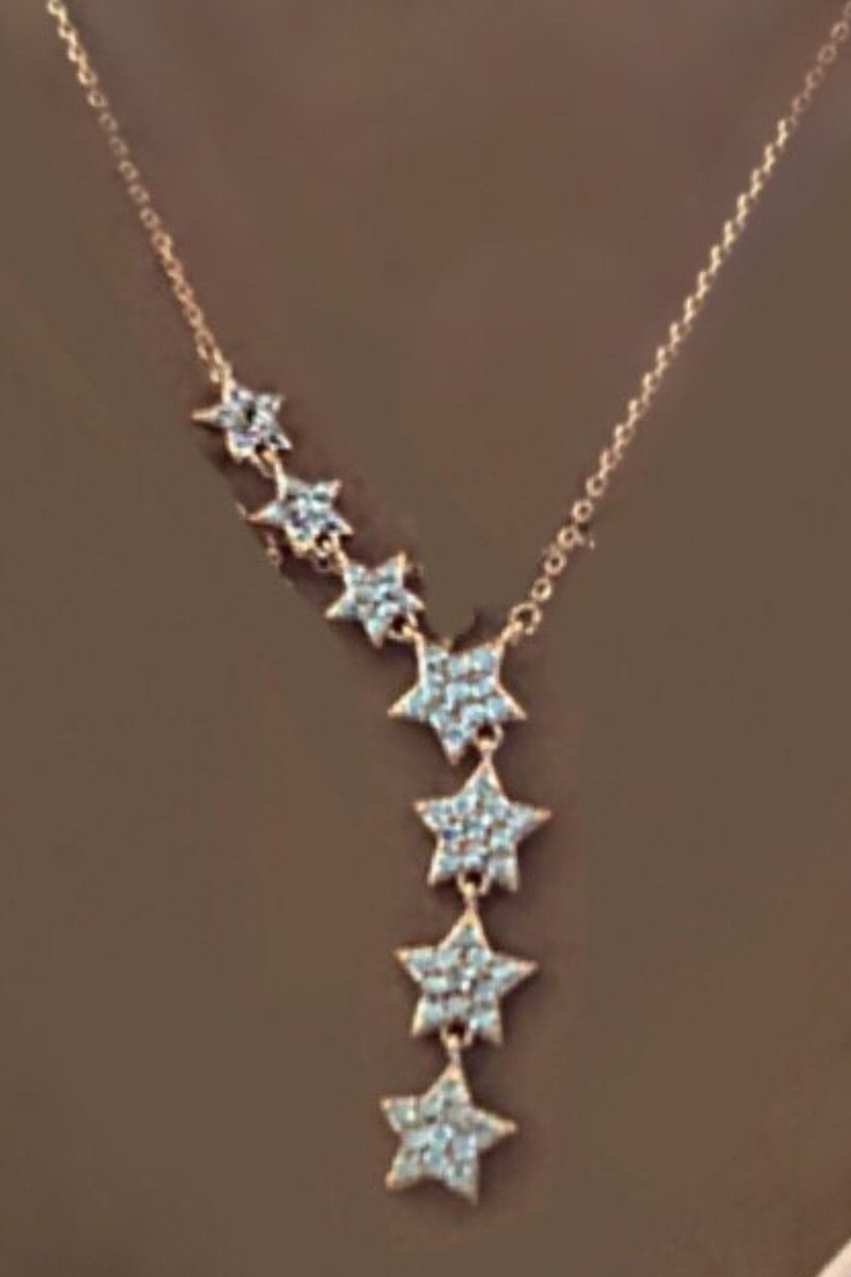 7 Stars Dainty Necklace 14k Gold Plated