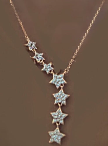7 Stars Dainty Necklace 14k Gold Plated - Purity Lace Designs