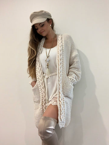Chunky Knit Cardy | Purity Lace Designs