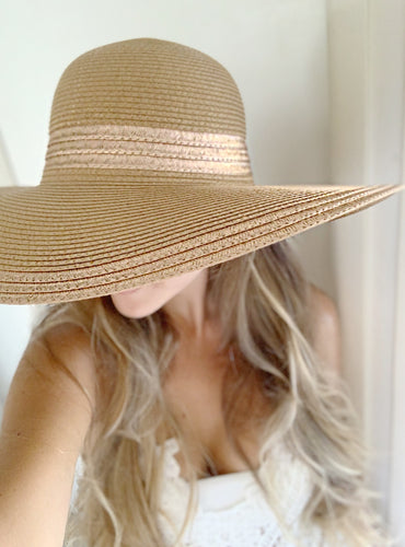 Rose Gold Floppy Hat