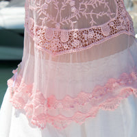Pink Lacey Lace Frill Top