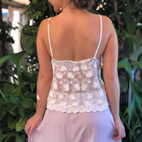 Dainty White Flower Lace Cami