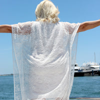 Esther White Curvy Caftan