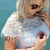 White Lace Shoulder Cape