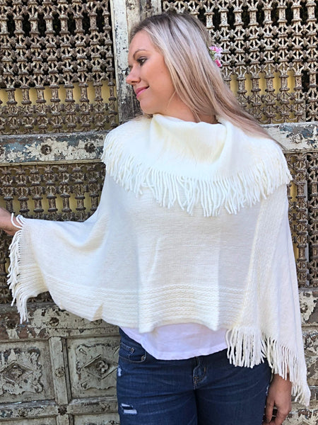 Megan Braided Collar Poncho