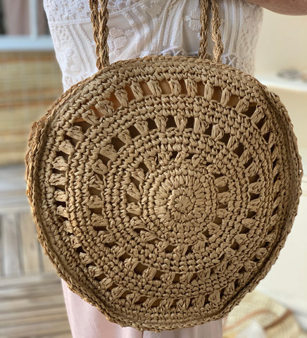 Spell Tan Tote Round Handbag | Purity Lace Designs
