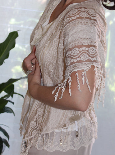 Raw Sugar Lace Bolero