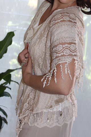 Raw Sugar Lace Bolero - Purity Lace Designs