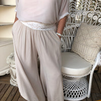 Gatsby Flapper Pants Sandy Cream