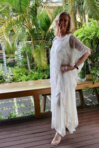 Frynee Lace Tunic Dress - Purity Lace Designs