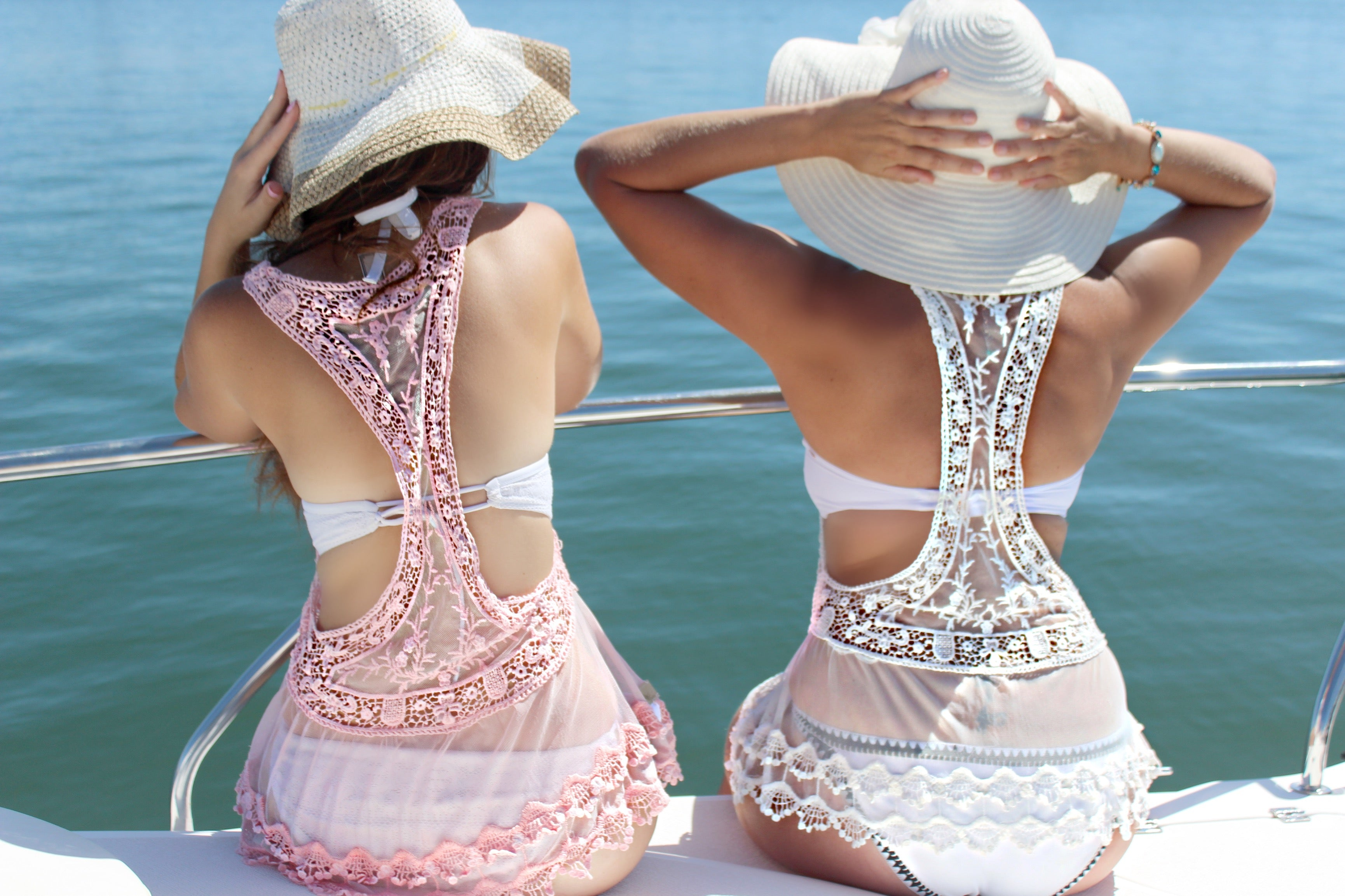 Pink Lacey Lace Frill Top - Purity Lace Designs
