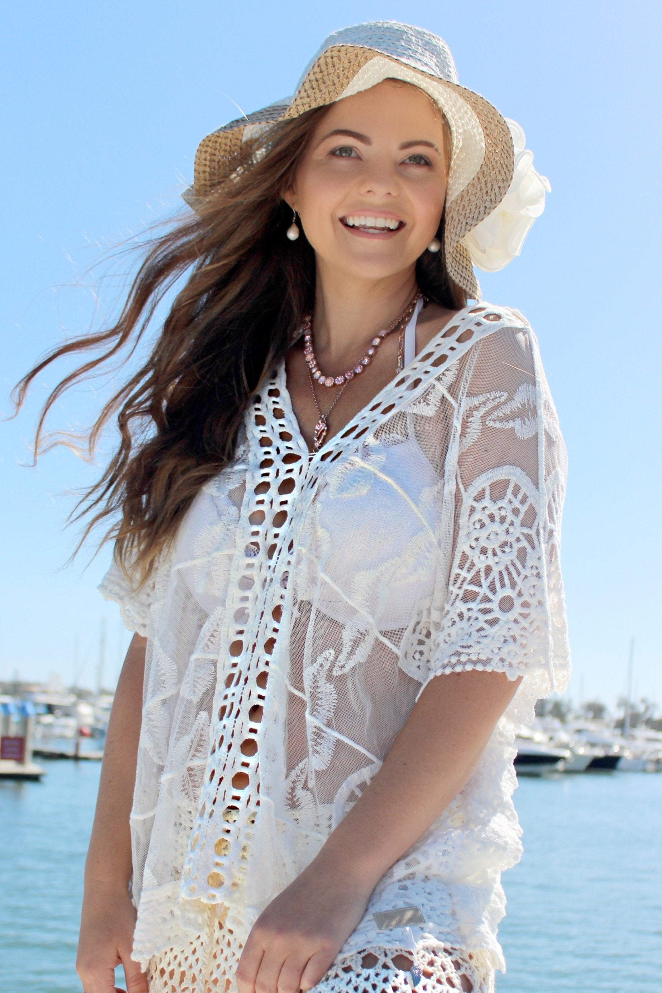 White Jo Jo Top - Purity Lace Designs