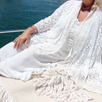 Maternity Gown Italian Romance White Lace Jacket