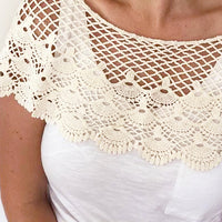 Cream crochet Lace Shoulder Cape