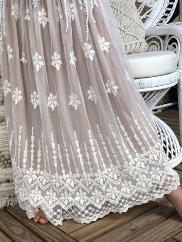 Violet Long Lace Skirt