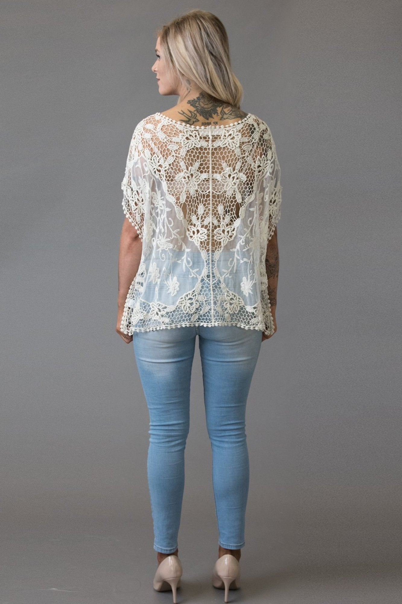 Cream Jo Jo Top - Purity Lace Designs