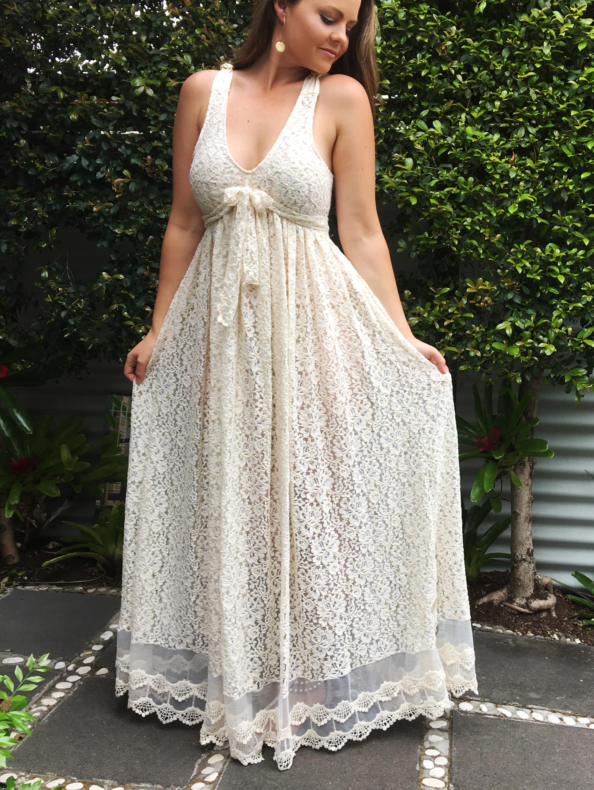 Maternity Rosie Lace Dress - Purity Lace Designs