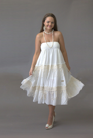 Festival Lace Strapless Dress