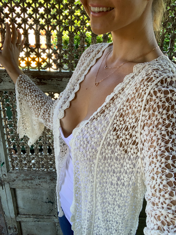 Belle Sleeve Cardy | Purity Lace Designs