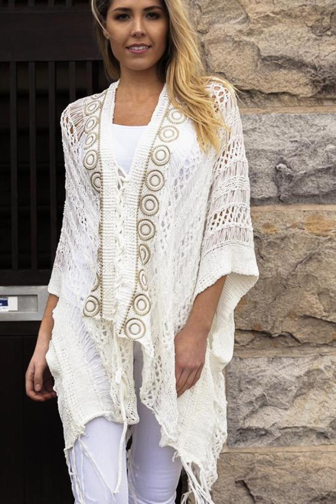 Bailey's Cream Poncho - Purity Lace Designs