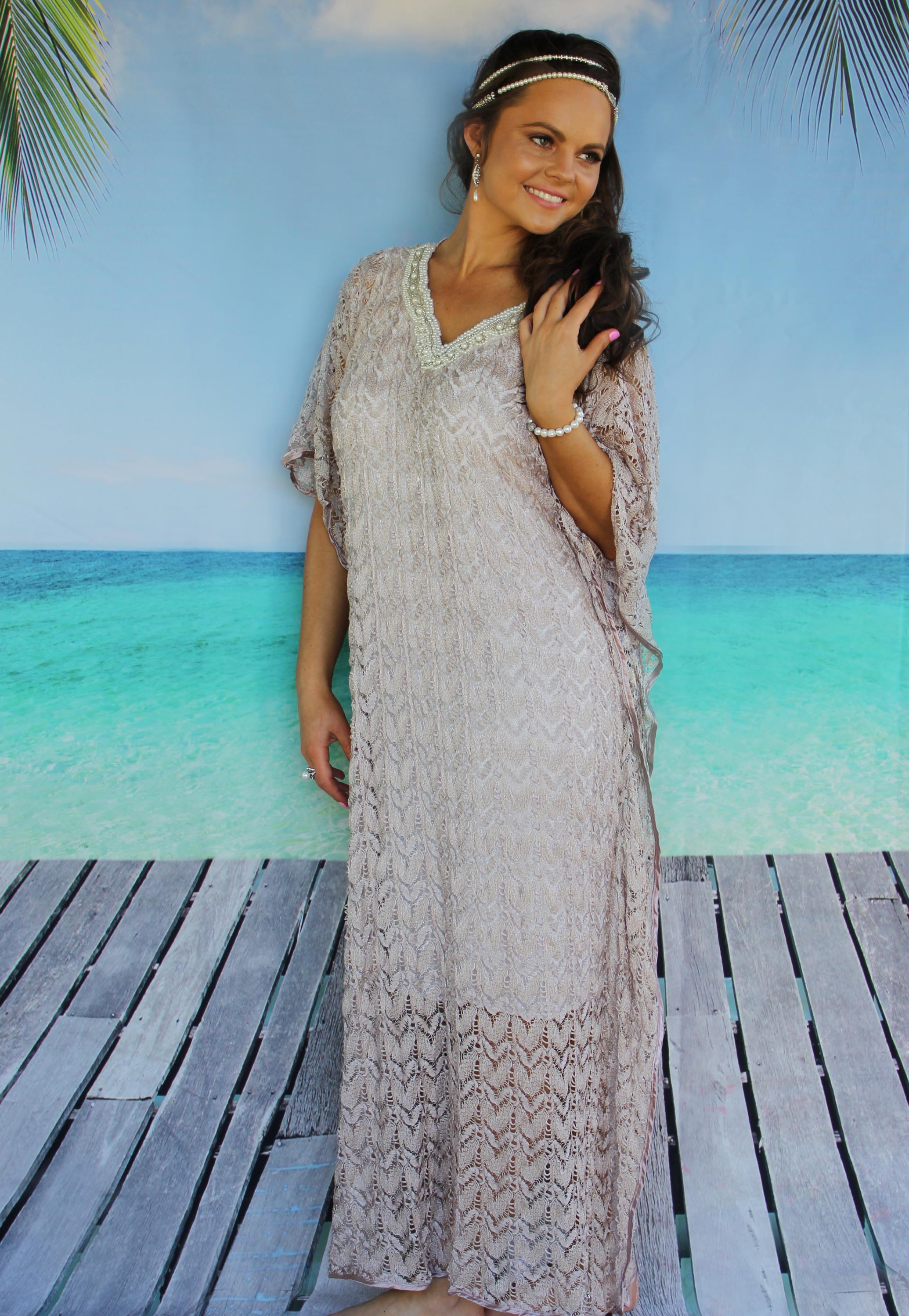 Esther Kaftan Bronze - Purity Lace Designs