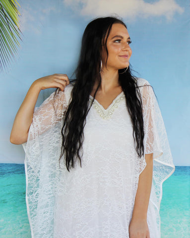 bridal white lace gown caftan