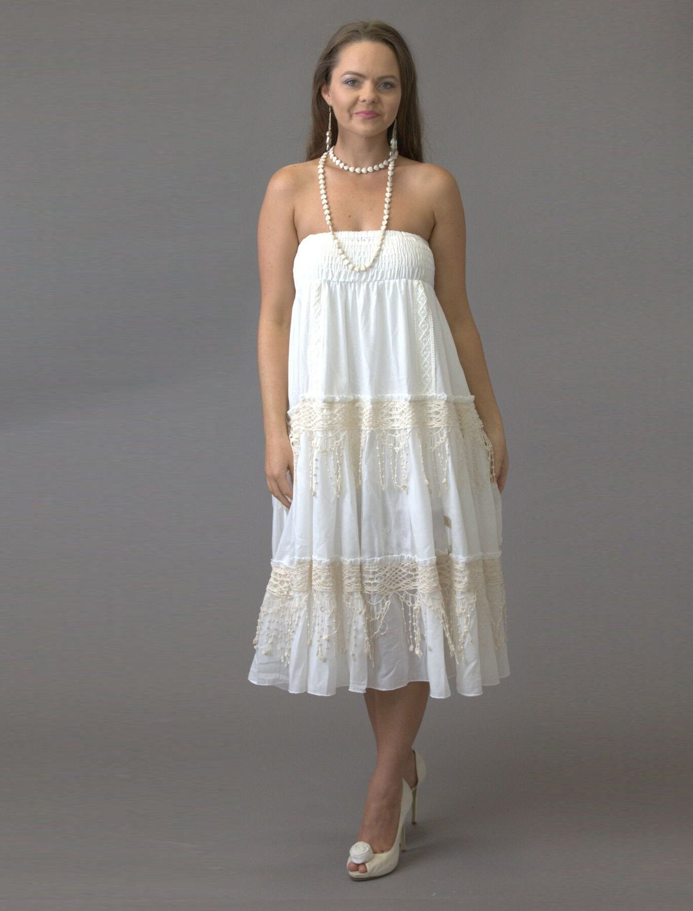 Festival Lace Strapless Dress - Purity Lace Designs