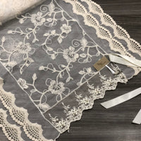 Floral Delight cream lace scarf
