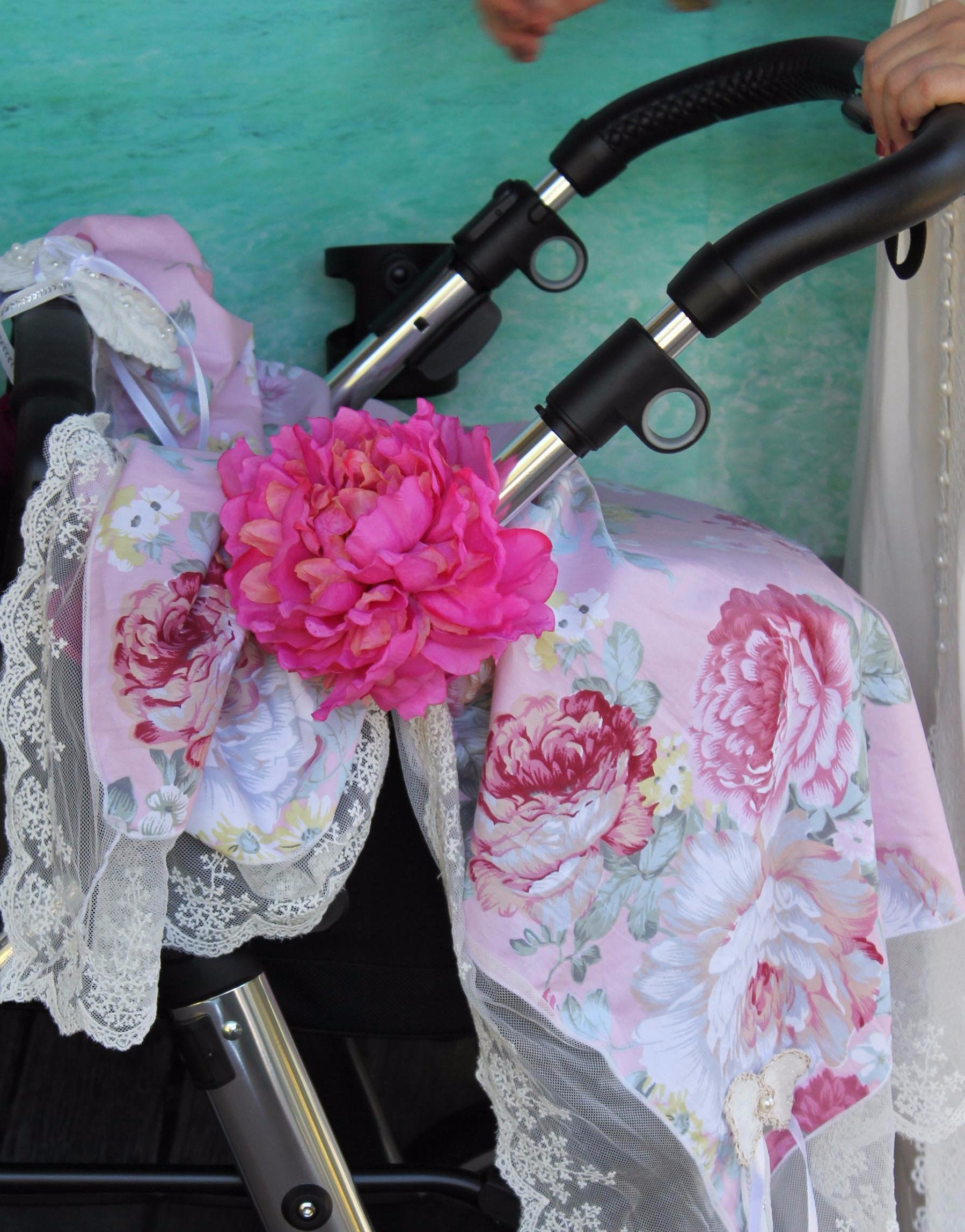 Pram Peg Flower Clip - Purity Lace Designs