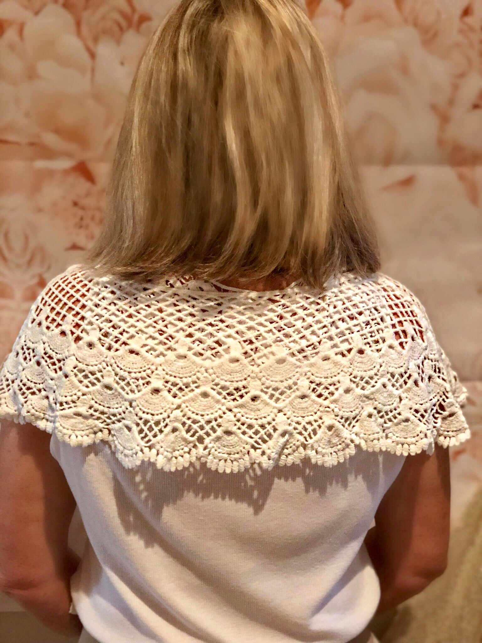 White Crochet Lace Shoulder Cape - Purity Lace Designs