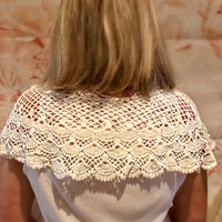 White Crochet Lace Shoulder Cape