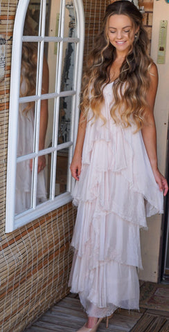 Amber Pink Ruffle Dress | Purity Lace Designs