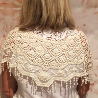 Cream Lace Shoulder Cape