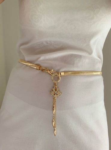 Gold Elegance Diamonte Belt