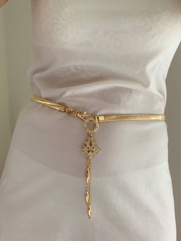 Gold Elegance Diamonte Belt | Purity Lace Designs