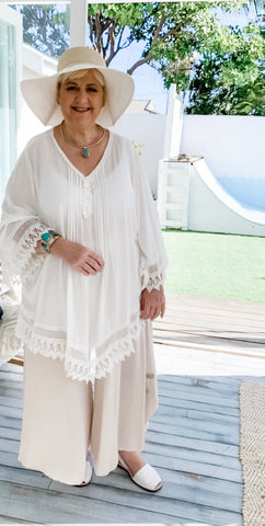 Cherie White Lace Blouse | Purity Lace Designs