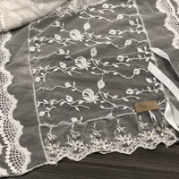Ivy White Lace Scarf