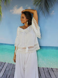 bride bridal off the shoulder pretty white cream lace top