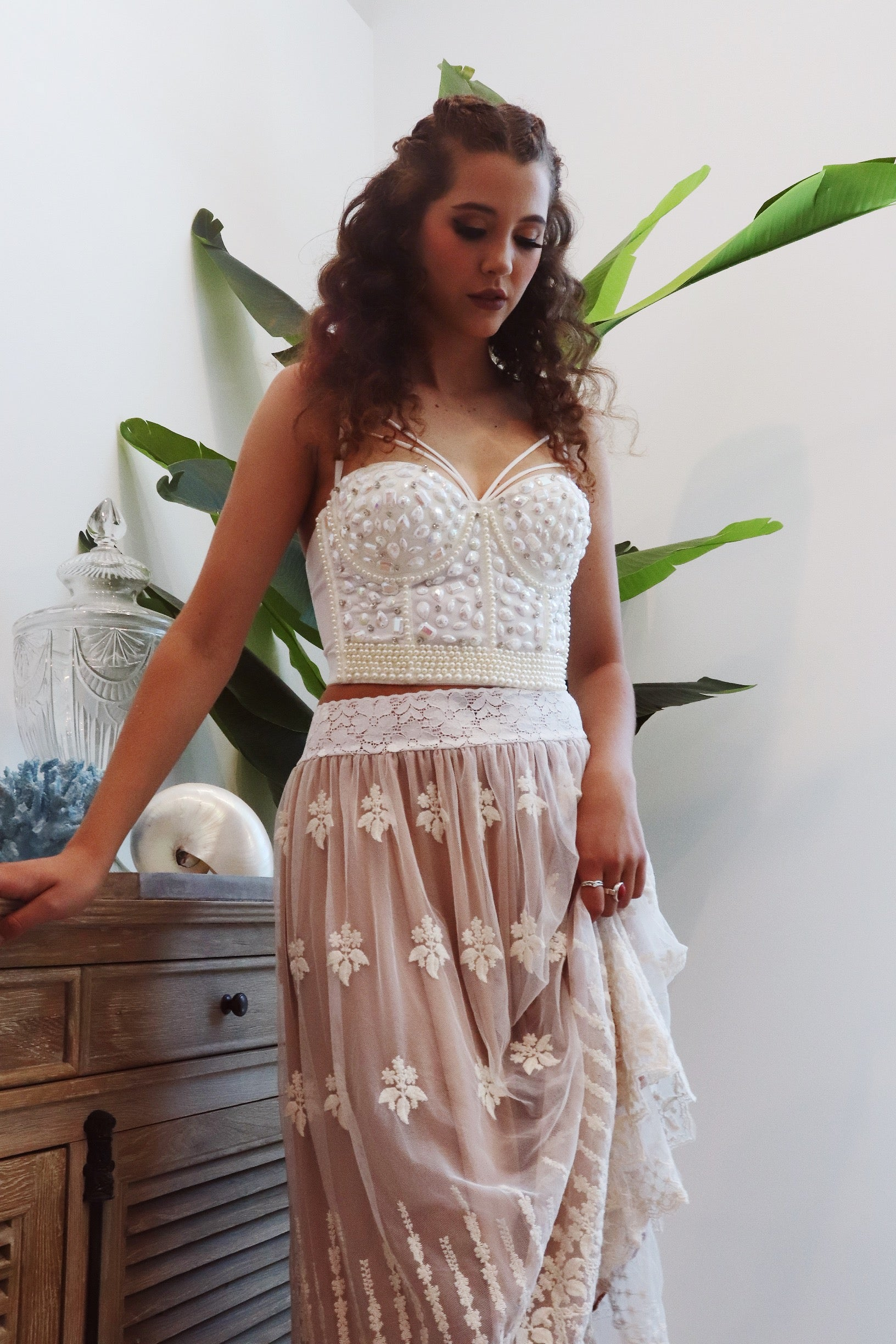 Mermaid Bustier - Purity Lace Designs