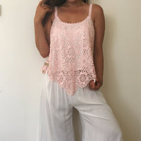 White Lace Cami