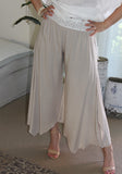 yoga flapper gatsby latte pants lace waist band bride resort wear cruise lace Gatsby Flapper pants