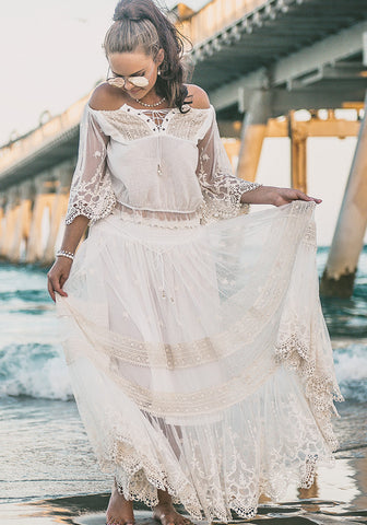 elegant lace off the shoulder sheer crop top boho classy top