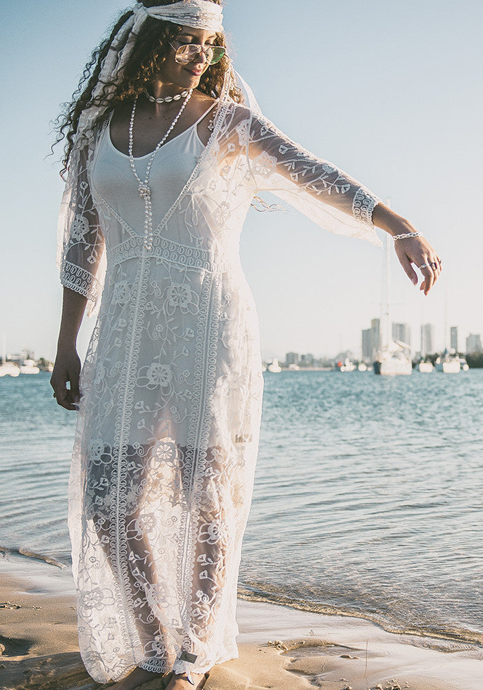 Sunrise Lace Duster Dress