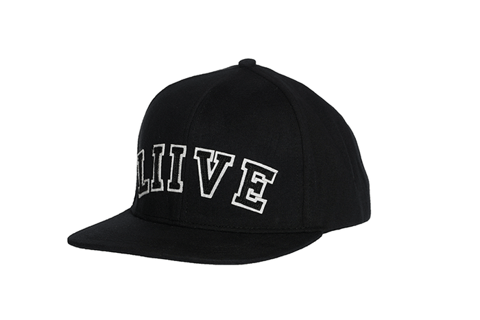 College Snapback Black/White